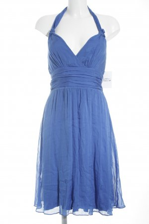 Hallhuber Neckholderkleid blau Party-Look