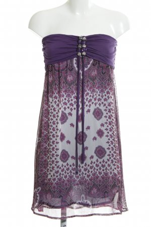 Hallhuber Halter Dress lilac-white flower pattern casual look