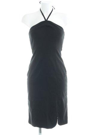 Hallhuber Vestido de cuello Halter negro elegante