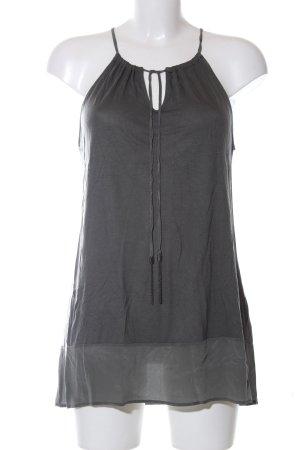 Hallhuber Top senza maniche grigio chiaro stile casual