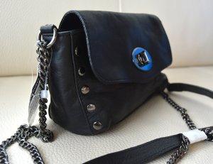 Hallhuber NEU Leder Mini bag turnlock Tasche Nieten Tracht rockig gothic studs NP 79 euro