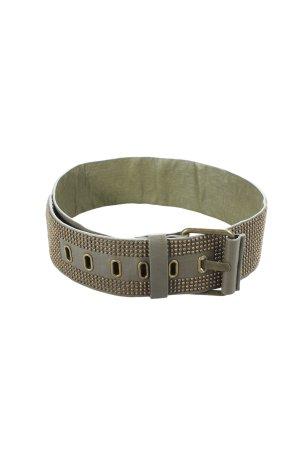 Hallhuber Cinturón de pinchos gris verdoso-color oro Estilo ciclista