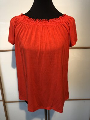 Hallhuber Oberteil leuchtend rot orange 36