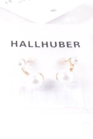 Hallhuber Ohrstecker goldfarben-weiß Eleganz-Look