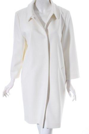 Hallhuber Oversized Mantel weiß schlichter Stil