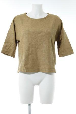 Hallhuber Oversized Pullover sandbraun-goldfarben Casual-Look
