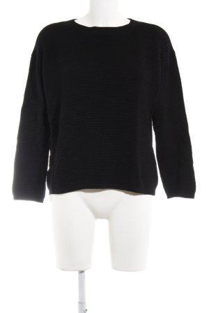 Hallhuber Oversized Pullover schwarz Street-Fashion-Look