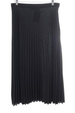Hallhuber Pleated Skirt black simple style