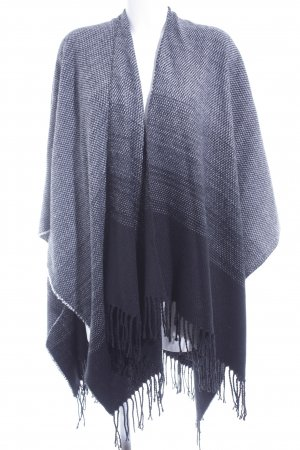 Hallhuber Poncho black-white color gradient casual look