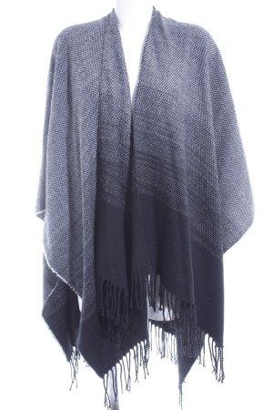 Hallhuber Poncho nero-bianco Colore sfumato stile casual