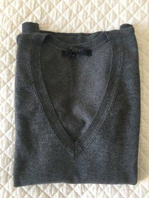 Hallhuber basic Jersey con cuello de pico gris
