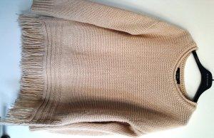 Hallhuber Pullover créme-beige mit Fransen, Gr. XS