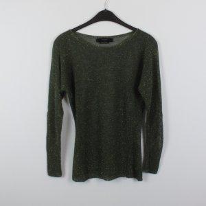 HALLHUBER Pullover Gr. S grün Goldfäden (18/10/264)