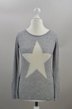 Hallhuber Pullover Kaschmir mit Stern grau Größe M