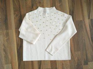 Hallhuber Wool Sweater white