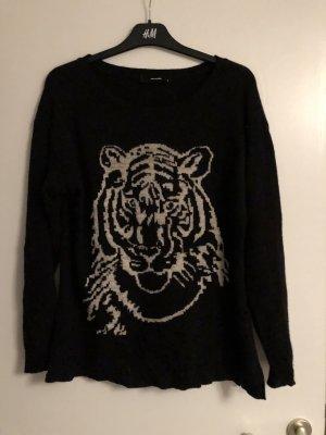 Hallhuber Pullover oversized Tiger Strick Gr. S Np 99 Euro