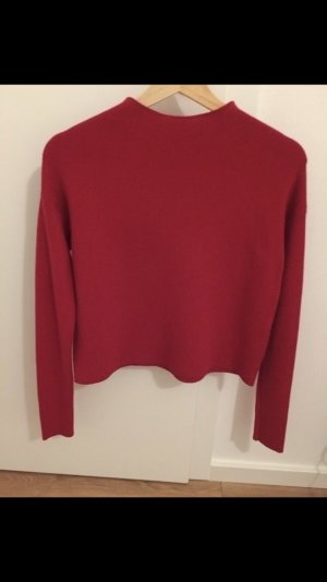 Hallhuber Pullover Pulli rot Cropped turtle neck