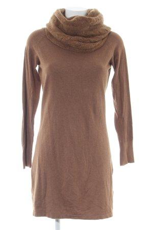 Hallhuber Pulloverkleid braun Casual-Look