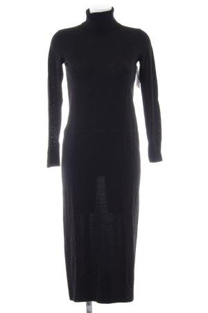 Hallhuber Robe pull noir style décontracté