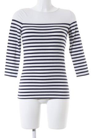 Hallhuber Ringelshirt dunkelblau-weiß Streifenmuster Marine-Look