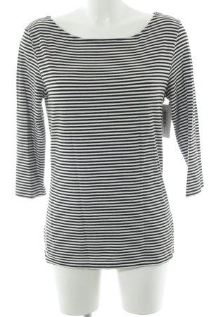 Hallhuber Ringelshirt weiß-schwarz Streifenmuster Casual-Look