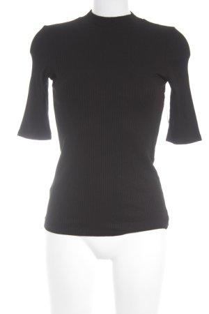Hallhuber Rippshirt schwarz Street-Fashion-Look