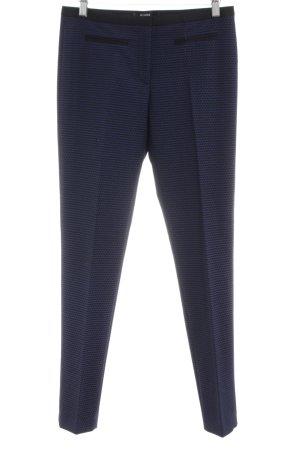 Hallhuber Pantalon cigarette bleu Motif de tissage style d'affaires