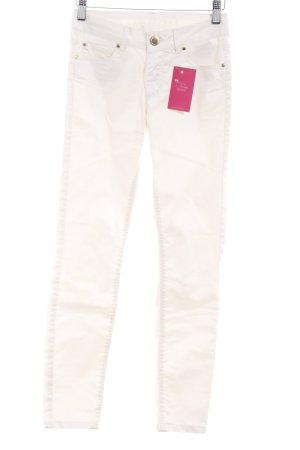 Hallhuber Pantalone a sigaretta crema con glitter