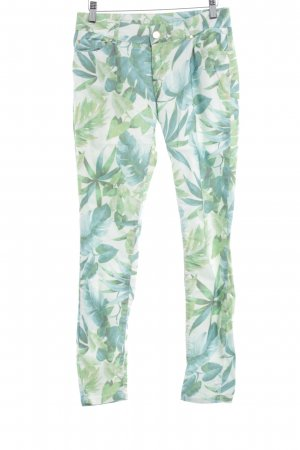 Hallhuber Pantalon cigarette motif floral style extravagant