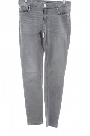 Hallhuber Drainpipe Trousers grey-light grey casual look