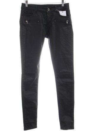 Hallhuber Pantalon cigarette noir style décontracté