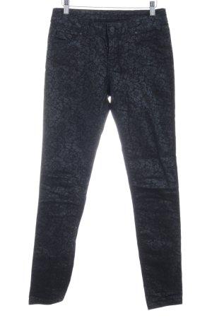 Hallhuber Jeans a sigaretta motivo floreale effetto metallico