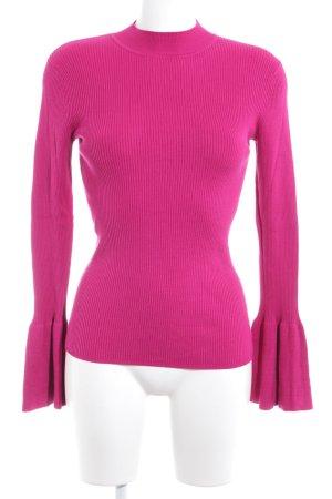 Hallhuber Jersey de cuello alto rosa