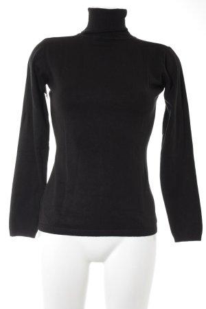 Hallhuber Colshirt zwart casual uitstraling