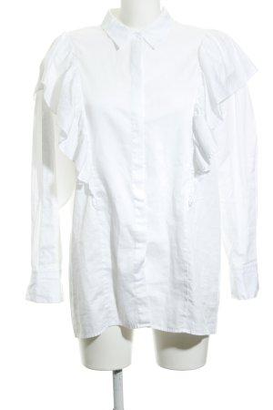 Hallhuber Camicetta con arricciature bianco elegante