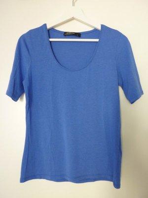 Hallhuber Rundhals-Shirt kornblumenblau Größe S