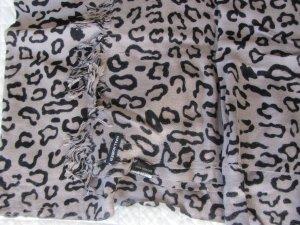 Hallhuber Bufanda gris-negro Viscosa