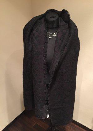 Hallhuber Écharpe noir-violet