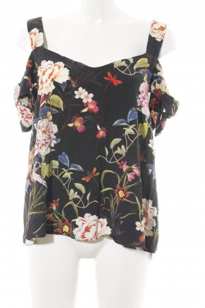 Hallhuber Schlupf-Bluse Blumenmuster Casual-Look