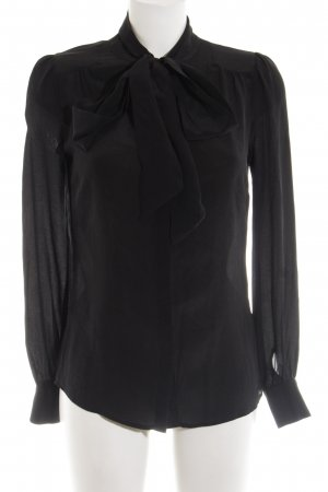 Hallhuber Stropdasblouse zwart elegant