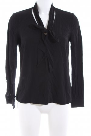 Hallhuber Tie-neck Blouse black business style