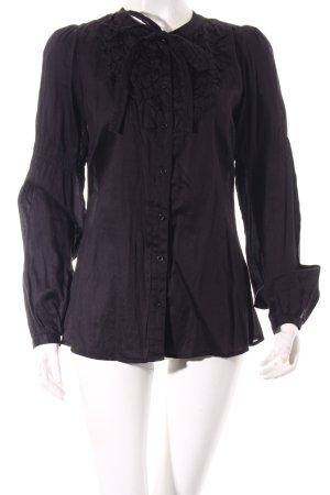 Hallhuber Schluppen-Bluse schwarz Elegant