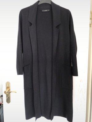 Hallhuber Manteau en tricot noir