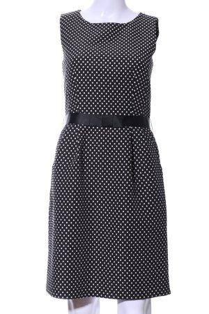 Hallhuber schulterfreies Kleid schwarz-weiß Punktemuster Elegant