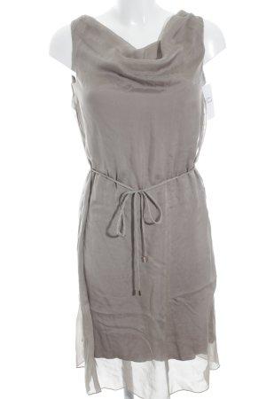 Hallhuber schulterfreies Kleid graubraun-grüngrau Casual-Look