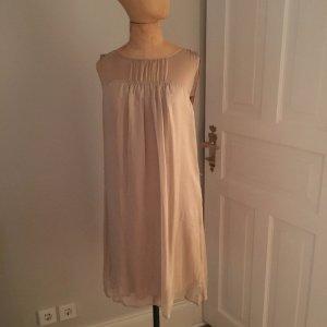 Hallhuber Seiden Kleid Gr. 30 nude top
