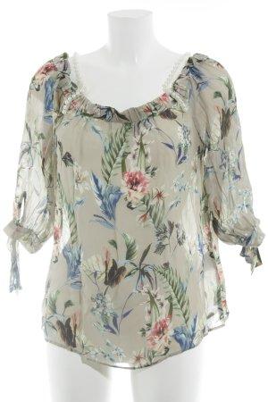 Hallhuber Zijden blouse bloemen patroon Beach-look
