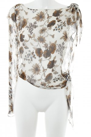 Hallhuber Seidenbluse florales Muster Casual-Look