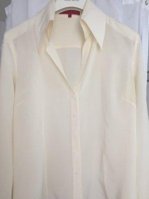 Hallhuber Blusa de seda crema