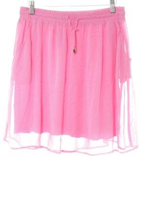 Hallhuber Seidenrock pink Casual-Look